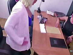 German Female Casting Agent Seduce Young Couple to Fuck