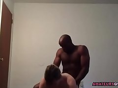AmateursGW - Cuckold wife giving BJ before fucking BBC Part 1