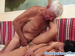 Young euro drilled by pensioners hard load of shit