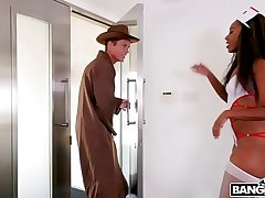 BANGBROS - Halloween Surprise with Chanell Heart on Brown Bunnies!