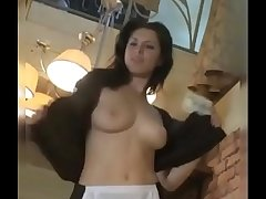 Nude waitress serve nude in hotal
