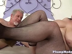 Cockriding plumper gets fed with big cock
