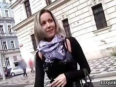 Public Pickups - Amateur Euro Slut Seduces Tourist For Fuck And Cash 09