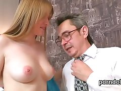 Adorable schoolgirl was seduced and plowed by her older teacher