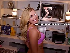 GIRLS GONE WILD - Pretty Young Blonde Masturbates Before Her Roommate Comes Home