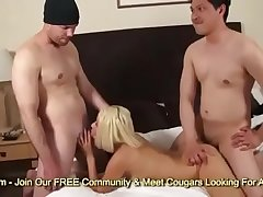 MILF Kaycee Dean Treated To Two Hard Dicks