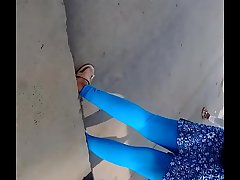 Hot  desi college girl leggings part 1