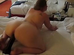 Thick White Girl Goes Crazy With her Monster Dildo