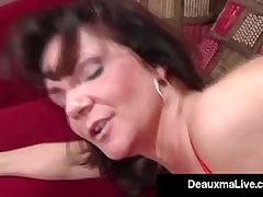 Busty Cougar Deauxma Fucks The Tax Impoverish In Her House! Oho!