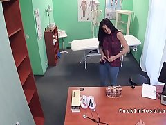 Kind doctor bangs sexy brunette patient