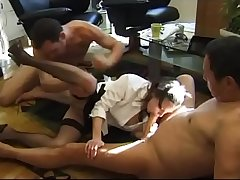 French maid double teamed