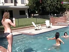 Infancy wet and wild lesbian pool party