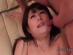 Chigusa Hara naughty oral porn and group sex