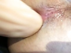 creamy session with my thick dildo